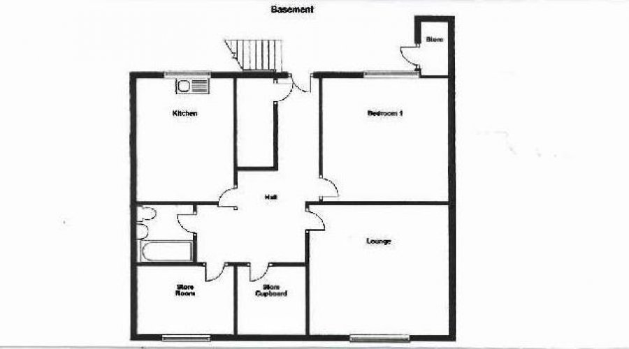 BASEMENT FLAT FLOOR PLAN