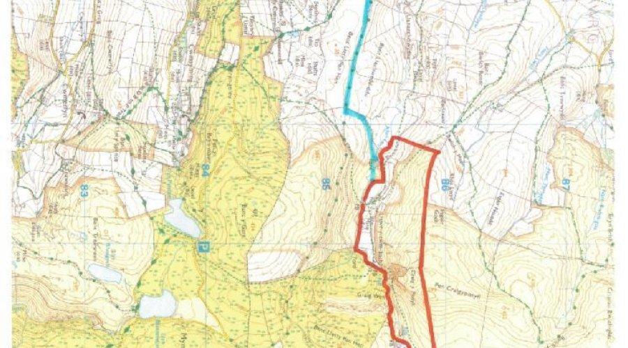 LLAWRCWMBACH MAP
