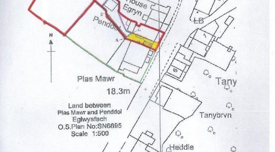 Penddol Eglwys Fach map.jpg